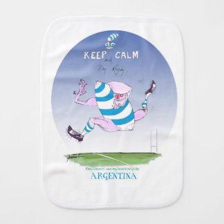 tony fernandes's argentina forward burp cloth