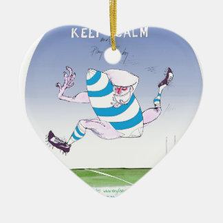 tony fernandes's argentina forward ceramic heart decoration