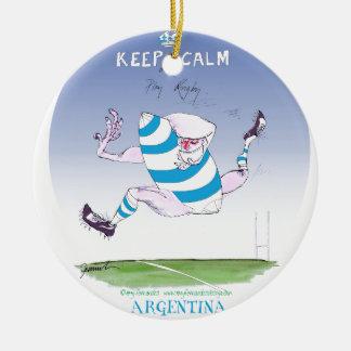tony fernandes's argentina forward round ceramic decoration