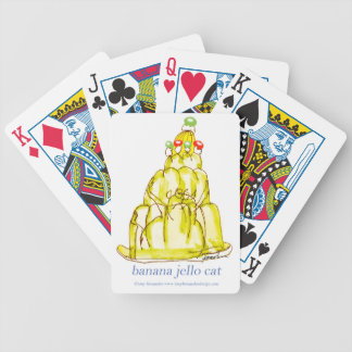 tony fernandes's banana jello cat bicycle playing cards