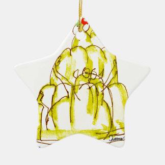 tony fernandes's banana jello cat ceramic star decoration