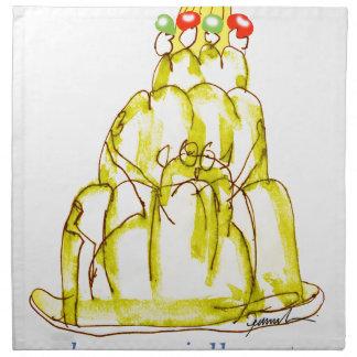 tony fernandes's banana jello cat napkin