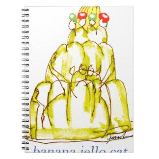 tony fernandes's banana jello cat notebook