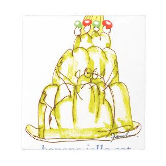 tony fernandes's banana jello cat notepad