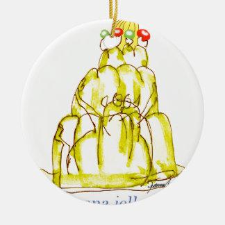 tony fernandes's banana jello cat round ceramic decoration