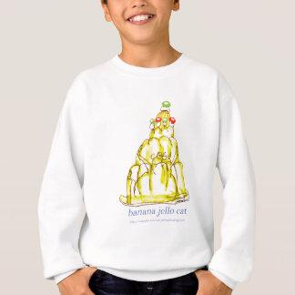 tony fernandes's banana jello cat sweatshirt