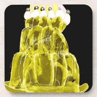 tony fernandes's banana jello rat coaster