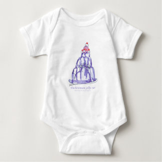 tony fernandes's blackcurrant jelly cat baby bodysuit