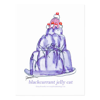 tony fernandes's blackcurrant jelly cat postcard