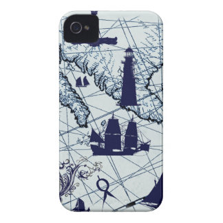 tony fernandes's blue map 2 Case-Mate iPhone 4 cases