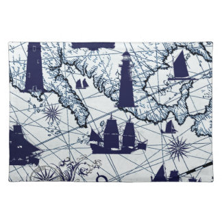 tony fernandes's blue map 2 placemat