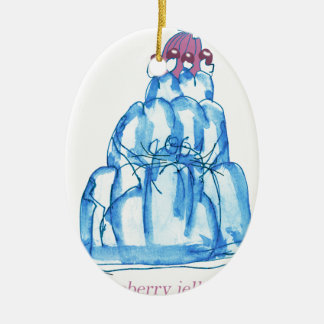 tony fernandes's blueberry jello cat christmas ornament