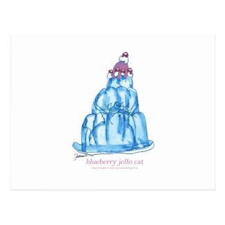 tony fernandes's blueberry jello cat postcard