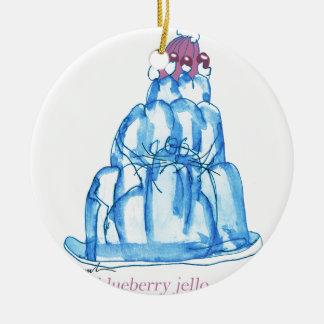 tony fernandes's blueberry jello cat round ceramic decoration