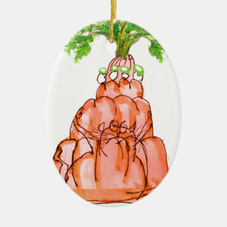 tony fernandes's carrot jello cat christmas ornament
