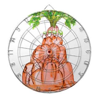tony fernandes's carrot jello cat dartboard