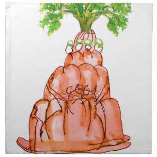 tony fernandes's carrot jello cat napkin