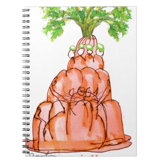 tony fernandes's carrot jello cat spiral note books