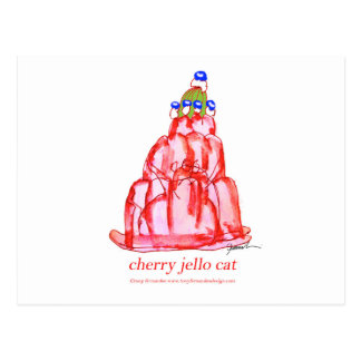 tony fernandes's cherry jello postcard