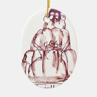 tony fernandes's cola jello cat ceramic oval decoration