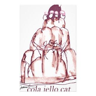 tony fernandes's cola jello cat custom stationery