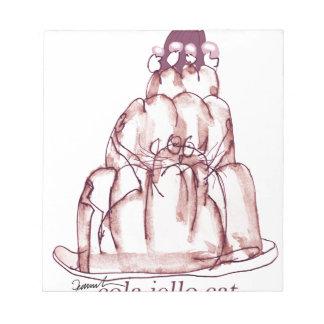 tony fernandes's cola jello cat notepad