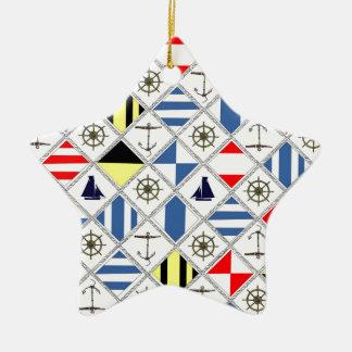 tony fernandes's flags 2 ceramic star decoration