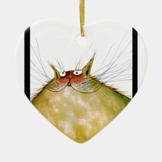 tony fernandes's ginger tom cat snap christmas ornament