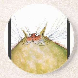 tony fernandes's ginger tom cat snap coaster