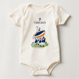 tony fernandes's Go Chicago Baby Bodysuit