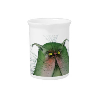 tony fernandes's green tabby cat snap pitcher