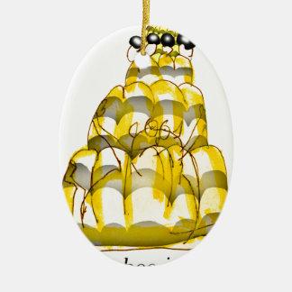 tony fernandes's honey bee jello ceramic oval decoration