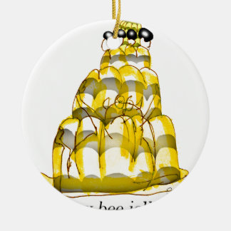 tony fernandes's honey bee jello round ceramic decoration