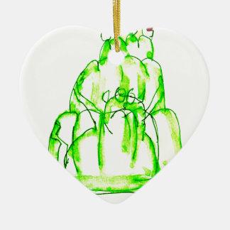 tony fernandes's kiwi jello ceramic heart decoration