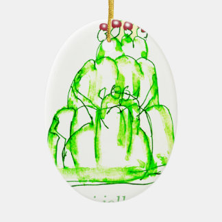 tony fernandes's kiwi jello ceramic oval decoration