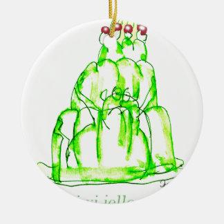 tony fernandes's kiwi jello round ceramic decoration