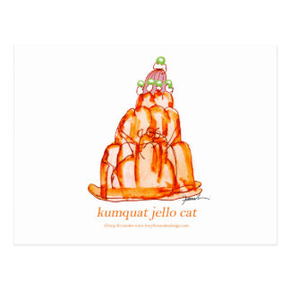 tony fernandes's kumquat jello cat postcard