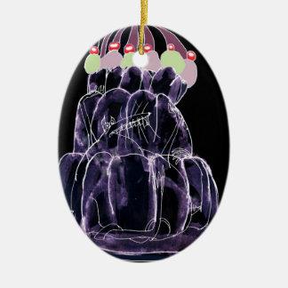 tony fernandes's licorice jello rat christmas ornament