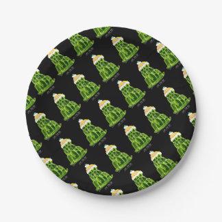 tony fernandes's lime jello rat paper plate