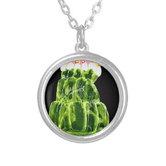 tony fernandes's lime jello rat silver plated necklace