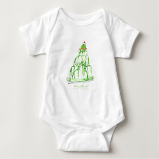 tony fernandes's lime jelly cat baby bodysuit