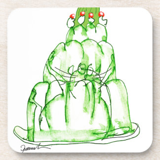 tony fernandes's lime jelly cat beverage coasters