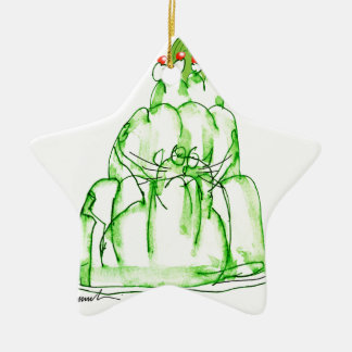 tony fernandes's lime jelly cat ceramic star decoration