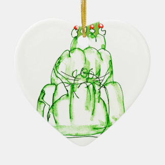 tony fernandes's lime jelly cat christmas ornament