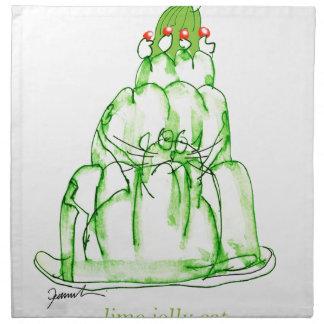tony fernandes's lime jelly cat napkin