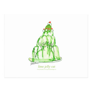 tony fernandes's lime jelly cat postcard