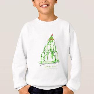 tony fernandes's lime jelly cat sweatshirt