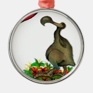 tony fernandes's love dodo Silver-Colored round decoration