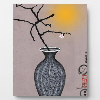 tony fernandes's moon and 1 plum blossom plaque