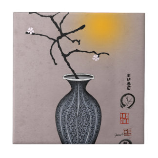 tony fernandes's moon and 2 plum blossom tile